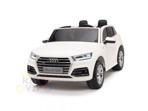 kidsvip 24v 2 seater audi q5 ride on car for kids and toddlers white 22