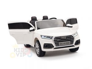 kidsvip 24v 2 seater audi q5 ride on car for kids and toddlers white 4