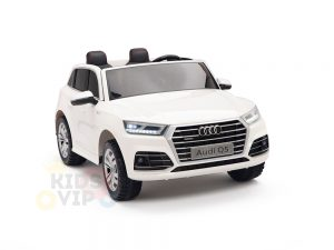 kidsvip 24v 2 seater audi q5 ride on car for kids and toddlers white 6