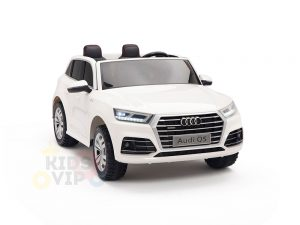 kidsvip 24v 2 seater audi q5 ride on car for kids and toddlers white 7