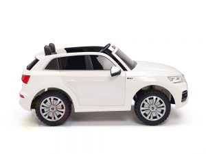 kidsvip 24v 2 seater audi q5 ride on car for kids and toddlers white 8
