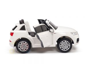 kidsvip 24v 2 seater audi q5 ride on car for kids and toddlers white 9