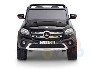 kidsvip mercedes x kids and toddlers ride on car truck 2x12v batteries black 1 1