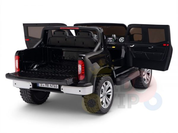 kidsvip mercedes x kids and toddlers ride on car truck 2x12v batteries black 12