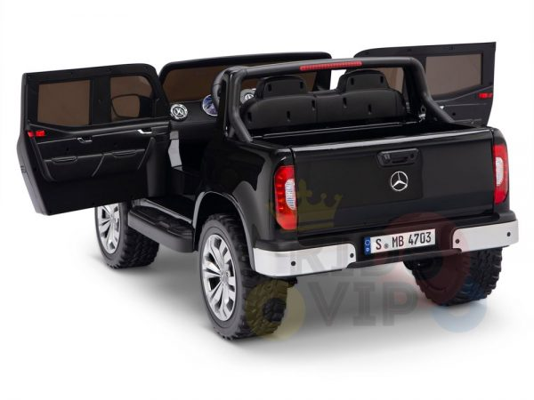 kidsvip mercedes x kids and toddlers ride on car truck 2x12v batteries black 17 1