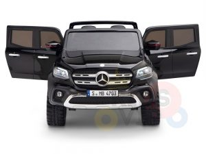 kidsvip mercedes x kids and toddlers ride on car truck 2x12v batteries black 2 1
