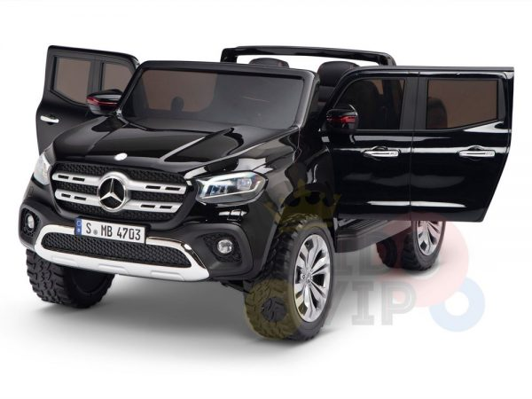 kidsvip mercedes x kids and toddlers ride on car truck 2x12v batteries black 21 1