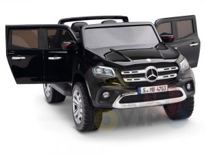 kidsvip mercedes x kids and toddlers ride on car truck 2x12v batteries black 3 1