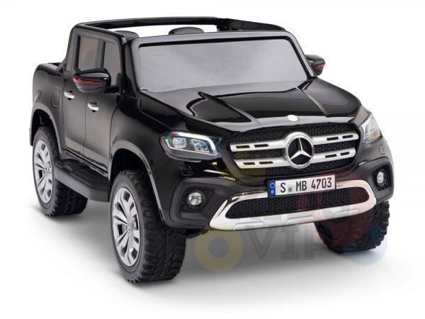 kidsvip mercedes x kids and toddlers ride on car truck 2x12v batteries black 5 1