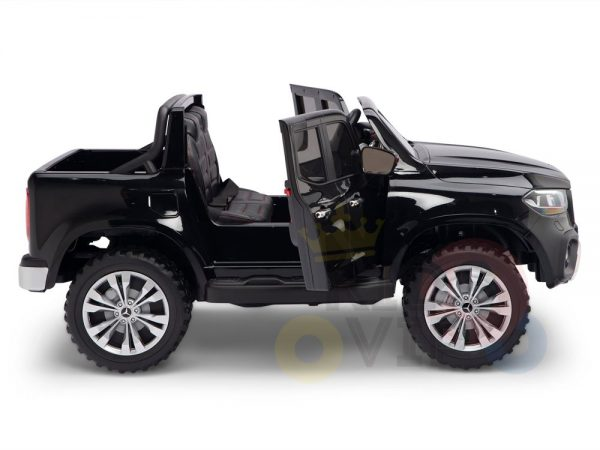kidsvip mercedes x kids and toddlers ride on car truck 2x12v batteries black 8 1
