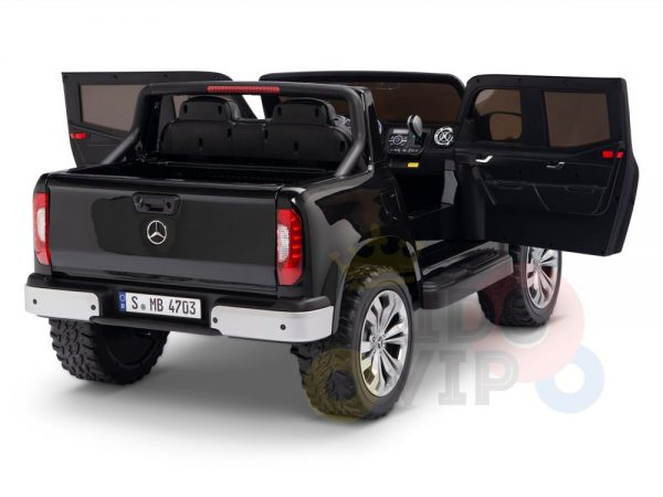 kidsvip mercedes x kids and toddlers ride on car truck 2x12v batteries black 9 1
