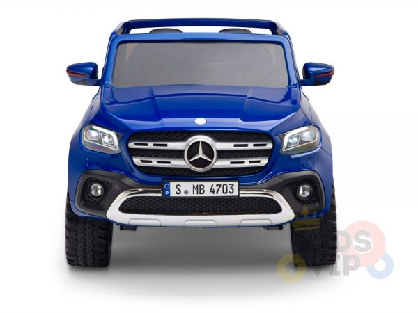 kidsvip mercedes x kids and toddlers ride on car truck 2x12v batteries blue 1 1