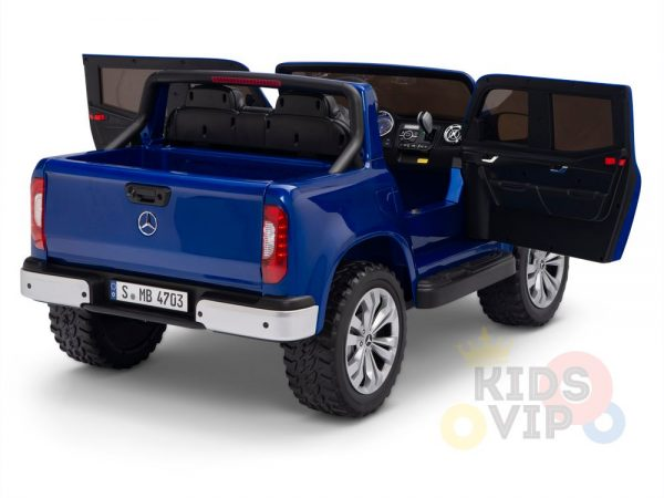 kidsvip mercedes x kids and toddlers ride on car truck 2x12v batteries blue 12 1
