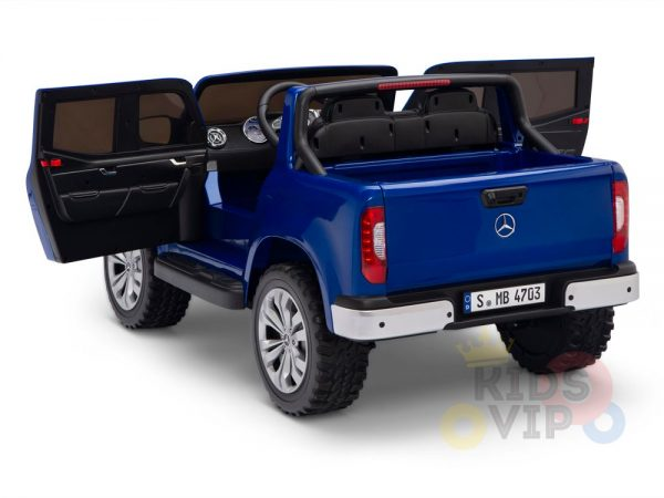 kidsvip mercedes x kids and toddlers ride on car truck 2x12v batteries blue 16 1