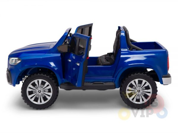 kidsvip mercedes x kids and toddlers ride on car truck 2x12v batteries blue 19