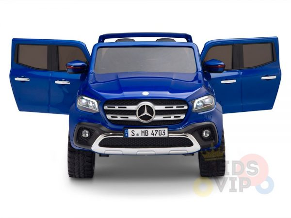 kidsvip mercedes x kids and toddlers ride on car truck 2x12v batteries blue 3 1