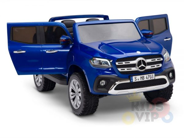 kidsvip mercedes x kids and toddlers ride on car truck 2x12v batteries blue 4 1