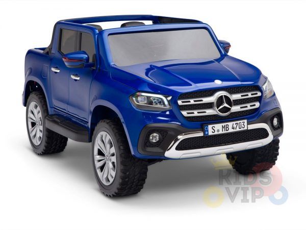 kidsvip mercedes x kids and toddlers ride on car truck 2x12v batteries blue 5 1