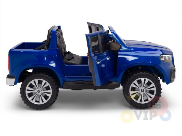 kidsvip mercedes x kids and toddlers ride on car truck 2x12v batteries blue 7 1