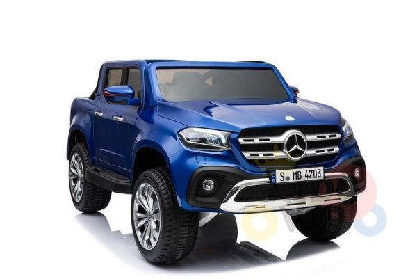 kidsvip mercedes x kids and toddlers ride on car truck 2x12v batteries blue 1