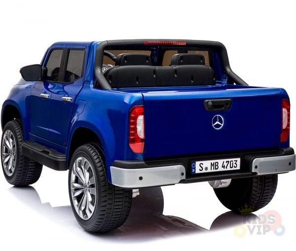 kidsvip mercedes x kids and toddlers ride on car truck 2x12v batteries blue 12