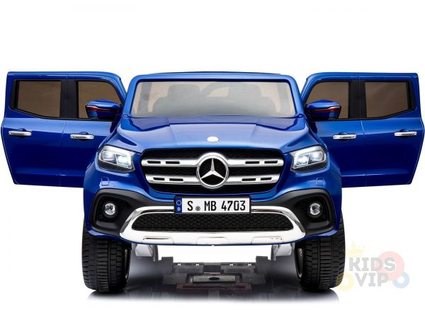 kidsvip mercedes x kids and toddlers ride on car truck 2x12v batteries blue 17
