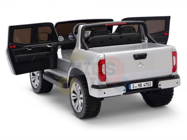 kidsvip mercedes x kids and toddlers ride on car truck 2x12v batteries silver 15