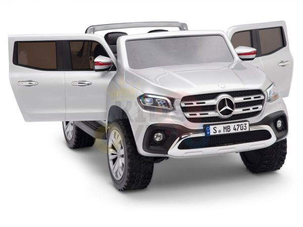 kidsvip mercedes x kids and toddlers ride on car truck 2x12v batteries silver 2 1
