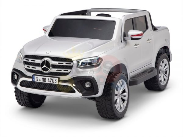 kidsvip mercedes x kids and toddlers ride on car truck 2x12v batteries silver 20