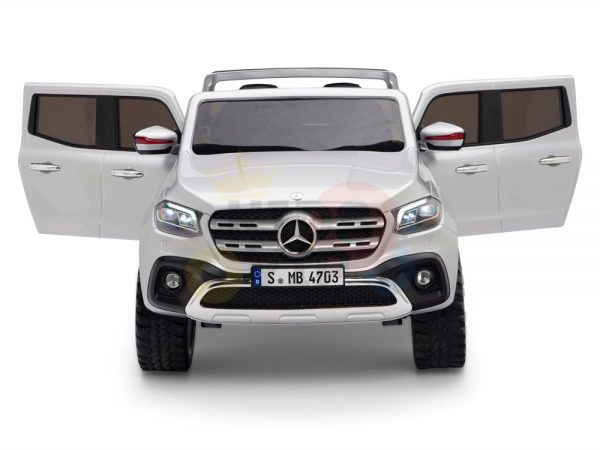 kidsvip mercedes x kids and toddlers ride on car truck 2x12v batteries silver 23 1