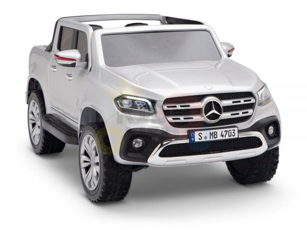kidsvip mercedes x kids and toddlers ride on car truck 2x12v batteries silver 3