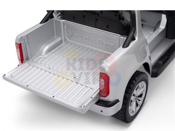 kidsvip mercedes x kids and toddlers ride on car truck 2x12v batteries silver 8 1