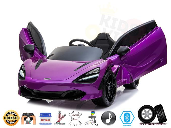 Licensed McLaren 720S Upgraded Ride On Super Car with Remote Control