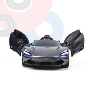 kidsvip mclaren 720s kids toddlers ride on car sport powered 12v rubber wheels leather seat rc black 14