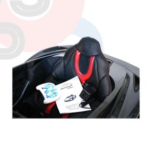 kidsvip mclaren 720s kids toddlers ride on car sport powered 12v rubber wheels leather seat rc black 15