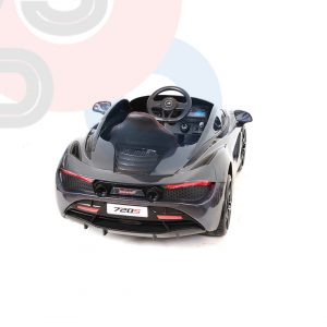 kidsvip mclaren 720s kids toddlers ride on car sport powered 12v rubber wheels leather seat rc black 16