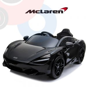 kidsvip mclaren 720s kids toddlers ride on car sport powered 12v rubber wheels leather seat rc black 18