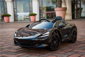 kidsvip mclaren 720s kids toddlers ride on car sport powered 12v rubber wheels leather seat rc black 21