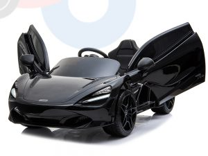 kidsvip mclaren 720s kids toddlers ride on car sport powered 12v rubber wheels leather seat rc black 53