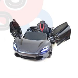 kidsvip mclaren 720s kids toddlers ride on car sport powered 12v rubber wheels leather seat rc black 7