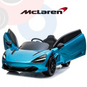 kidsvip mclaren 720s kids toddlers ride on car sport powered 12v rubber wheels leather seat rc blue 13