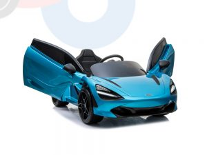 kidsvip mclaren 720s kids toddlers ride on car sport powered 12v rubber wheels leather seat rc blue 14