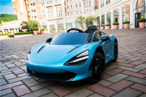 kidsvip mclaren 720s kids toddlers ride on car sport powered 12v rubber wheels leather seat rc blue 17