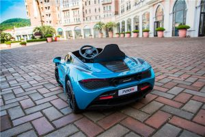 kidsvip mclaren 720s kids toddlers ride on car sport powered 12v rubber wheels leather seat rc blue 27
