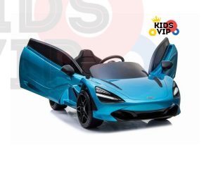 kidsvip mclaren 720s kids toddlers ride on car sport powered 12v rubber wheels leather seat rc blue 30