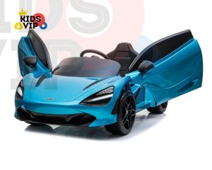 kidsvip mclaren 720s kids toddlers ride on car sport powered 12v rubber wheels leather seat rc blue 31