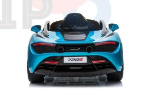 kidsvip mclaren 720s kids toddlers ride on car sport powered 12v rubber wheels leather seat rc blue 35
