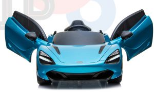 kidsvip mclaren 720s kids toddlers ride on car sport powered 12v rubber wheels leather seat rc blue 37