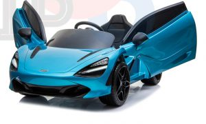 kidsvip mclaren 720s kids toddlers ride on car sport powered 12v rubber wheels leather seat rc blue 38