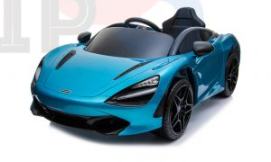 kidsvip mclaren 720s kids toddlers ride on car sport powered 12v rubber wheels leather seat rc blue 40